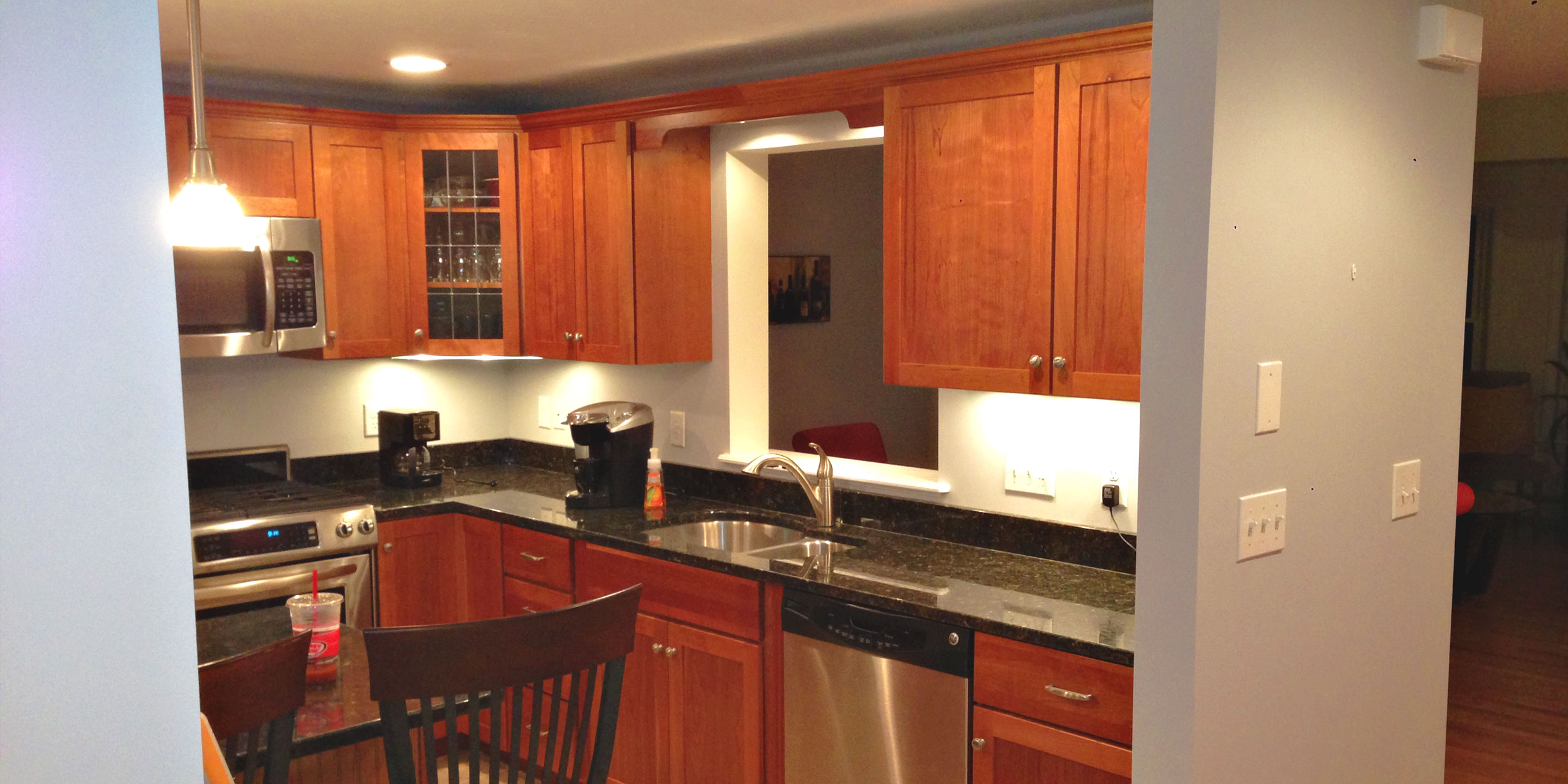 Interior walls of kitchen painted by Mystic Painting Co. in Wakefield, MA